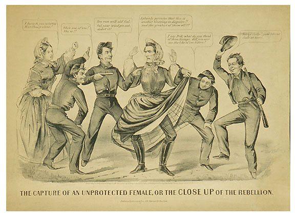 569: Civil War Lithograph Jefferson Davis, Cameron