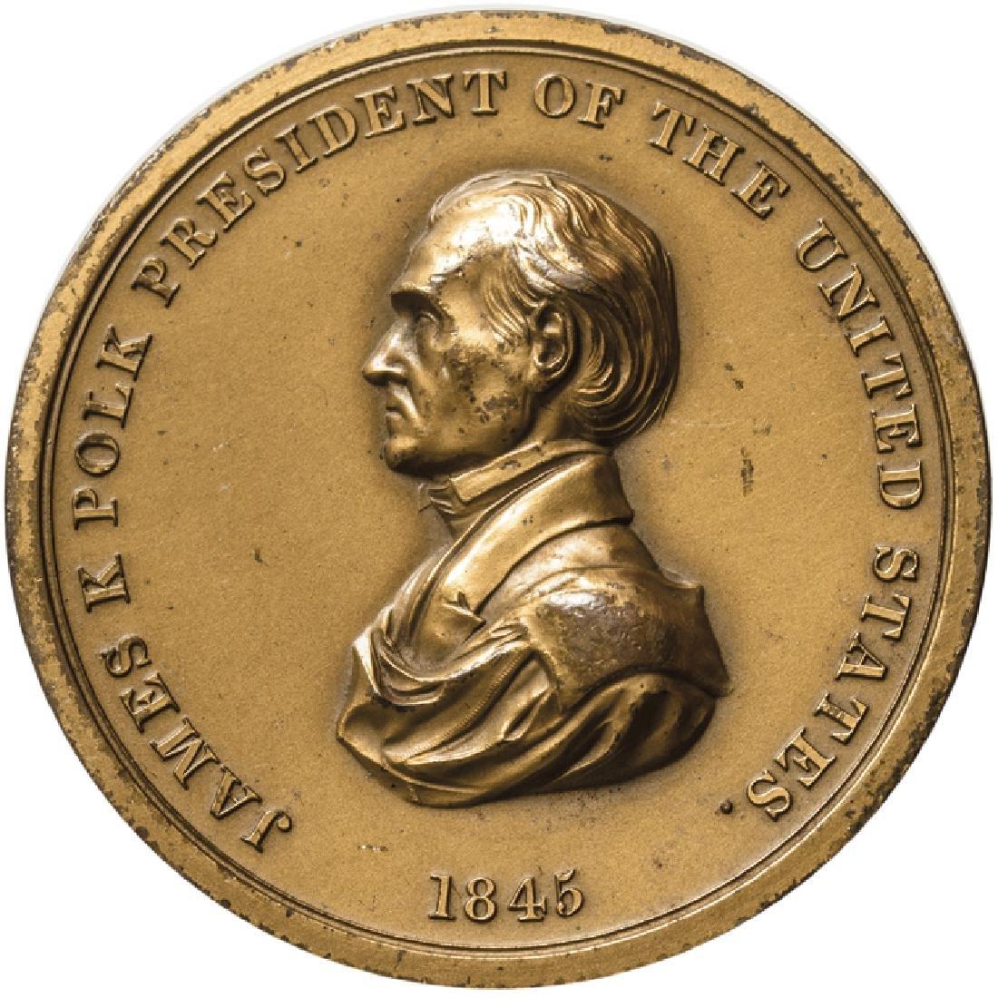 1845 James Polk Indian Peace Medal Mint Restrike