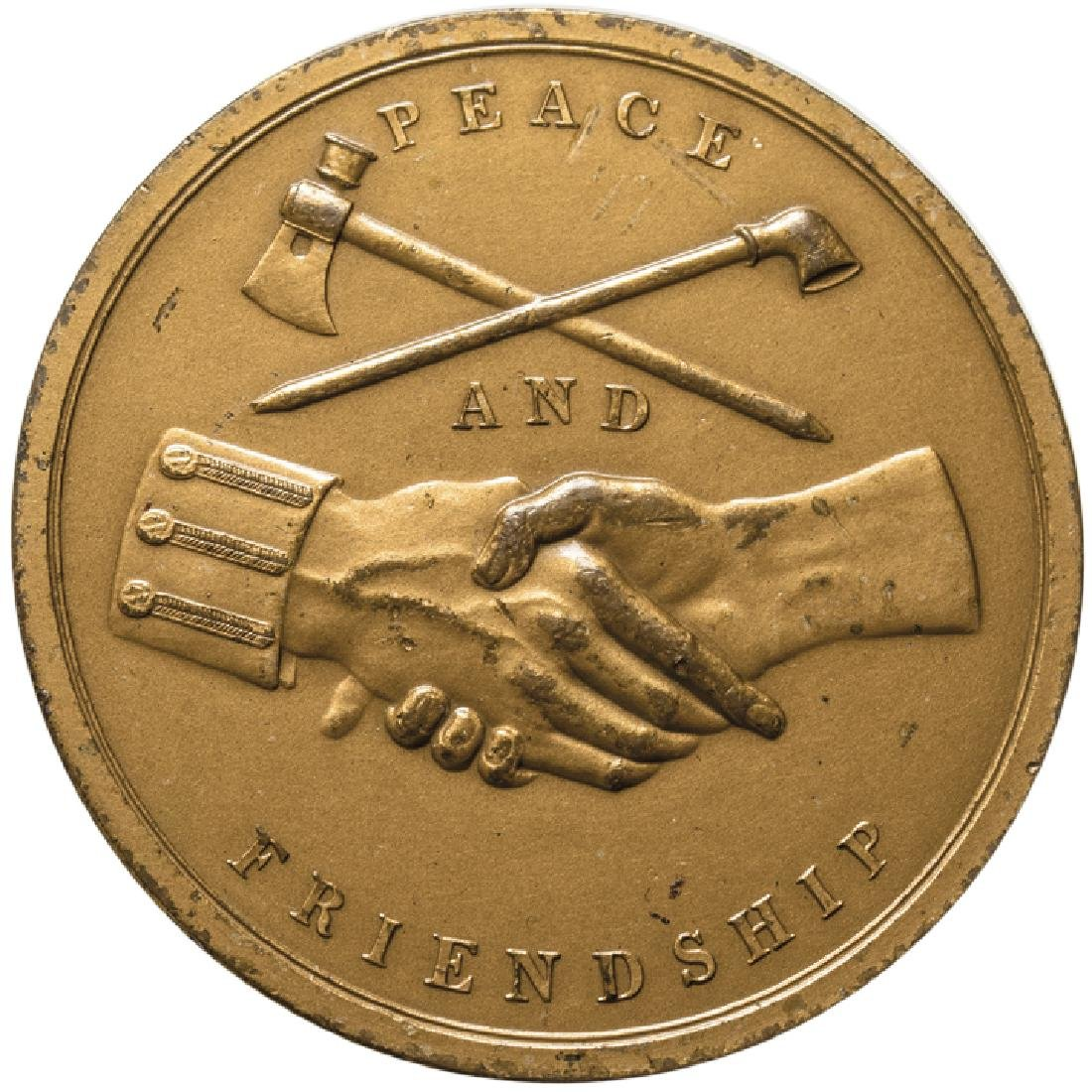 1845 James Polk Indian Peace Medal Mint Restrike - 2