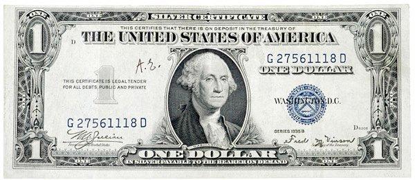2013: ALBERT EINSTEIN, Initials a $1 Bill--Rare