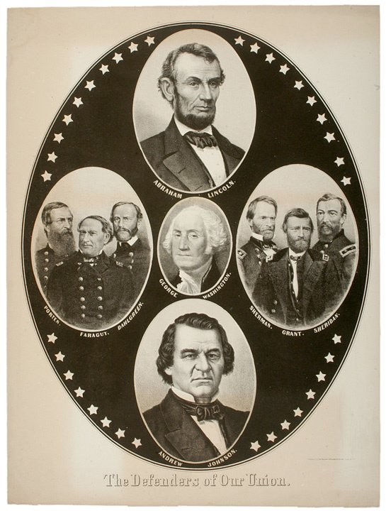 2153: ABRAHAM LINCOLN, c. 1864, POSTER: The Defenders