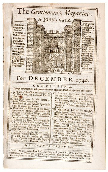 3019: THE GENTLEMANS MAGAZINE, 1740