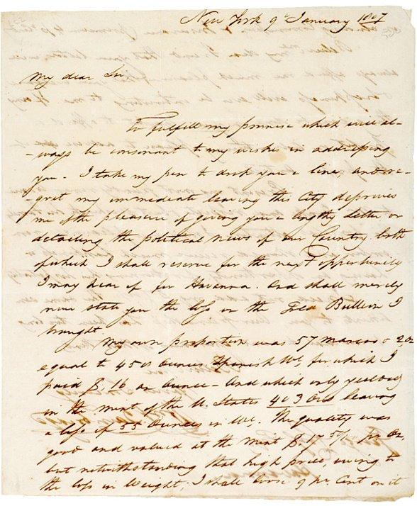 2: Autograph Letter Signed, WILLIAM BAINBRIDGE, 1807