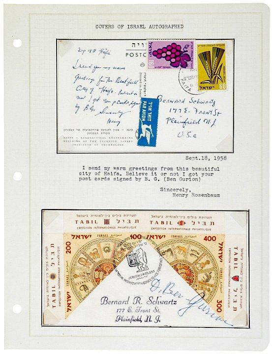6: Printed Document Signed, DAVID BEN-GURION, 1958