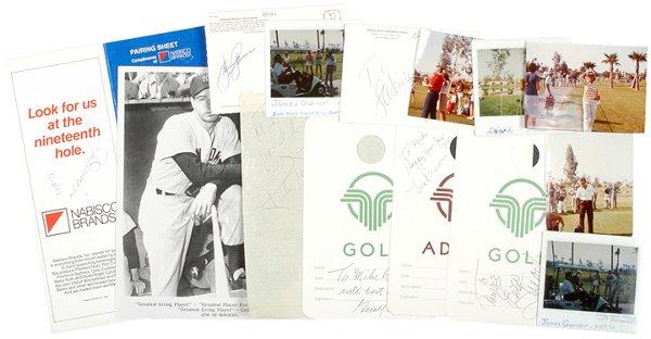 18: 11 Celebrity Autographs at Golf Tournaments