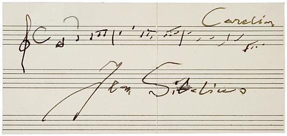 111: JEAN SIBELIUS, Autograph Quotation Signed