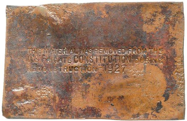 246: Commemorative Relic of the Frigate CONSTITUTION