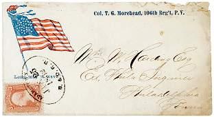 302: Civil War Regimental Cover: Circular Star Flag