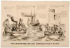 330 1862  Comical Blockade Political Cartoon