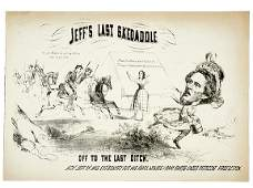 331 Civil War CaricatureCapture of Jeff Davis