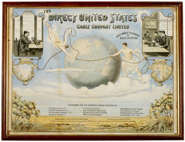 466: Rare Trans-Atlantic Cable Advertising Poster