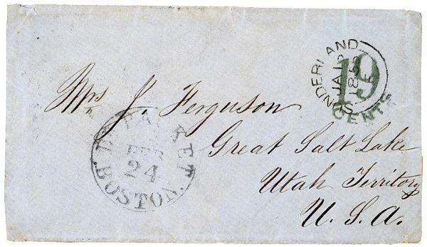 614: 1855 Cover To Great Salt Lake, Utah Territory
