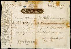 675 Colonial Currency Signed by BLAIR and RANDOLPH