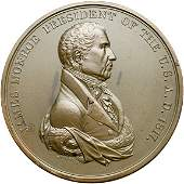 917: (1817) James Monroe Indian Peace Medal in Bronze