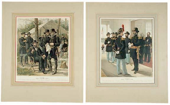 4023: Two Chromolithographs From Drawings, c. 1888
