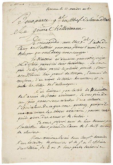 2002: NAPOLEON BONAPARTE Signed Document 1795