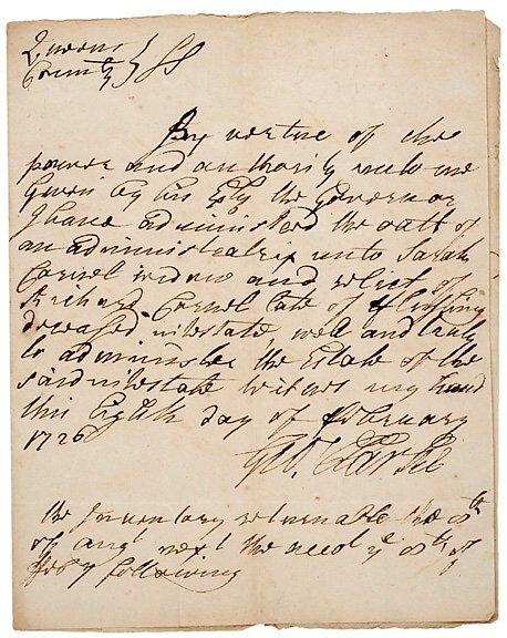 2007: GEORGE CLARKE Signed Document 1726