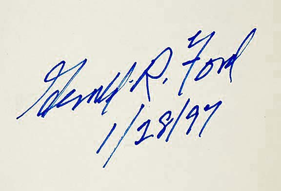 2017: GERALD R. FORD Signed Book