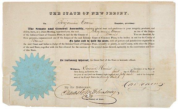 2018: DANIEL HAINES Signed Document 1849