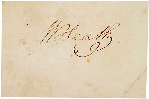 2019: General WILLIAM HEATH Signature