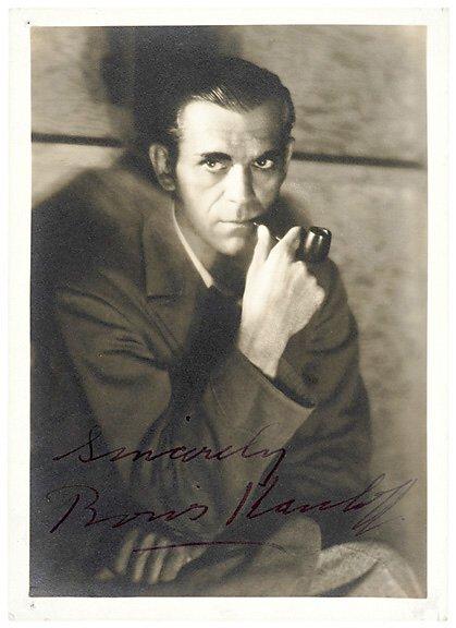 2021: Actor BORIS KARLOFF Signed Photo