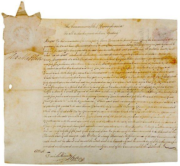 2022: THOMAS MIFFLIN Signed Document 1790