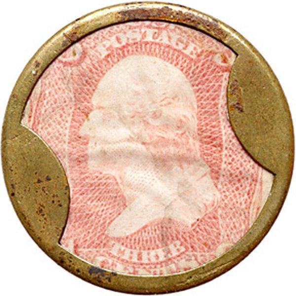 2300: Encased Postage Stamps, Ayers Sarsap. 3¢