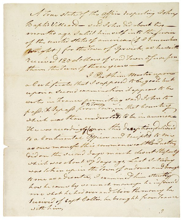 5005: Two Letters to JOHN HANCOCK, 1781