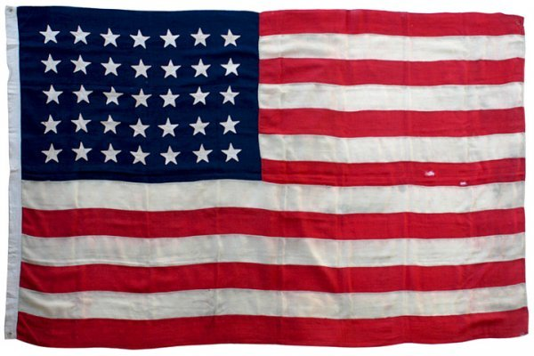 5021: 1863 Civil War American Flag With 35 Stars