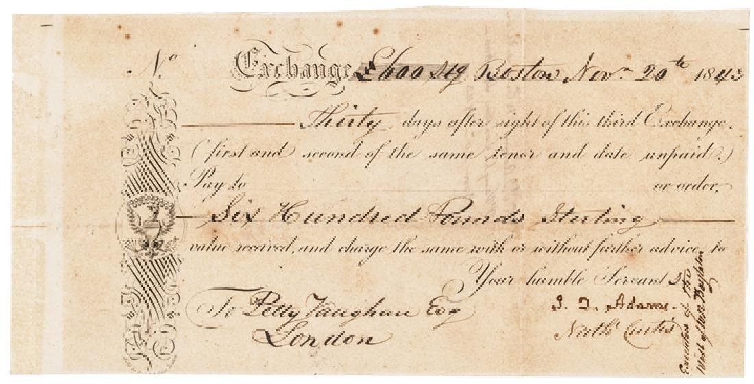 JOHN QUINCY ADAMS Signed, Ward Nicholas Boylston