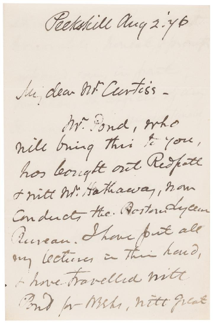 TWO, HENRY WARD BEECHER Autograph Letters Signed