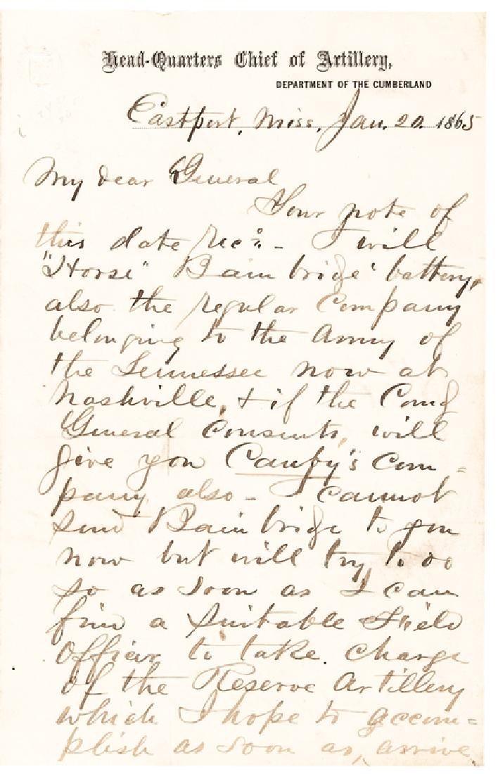 JOHN MILTON BRANNAN Autograph Letter Signed