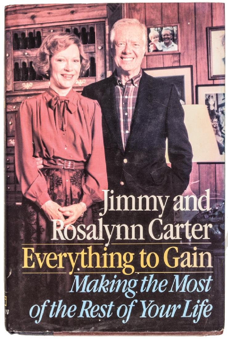 TWO (2) Books Signed JIMMY + ROSLYN CARTER