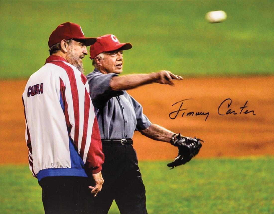 Politics Baseball Fidel Castro + JIMMY CARTER