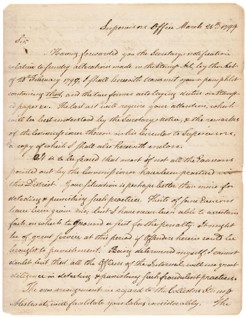 JOHN CHESTER Autograph Letter Signed 1799