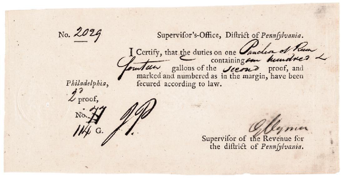 Declaration Signer GEORGE CLYMER Signed Rum Form