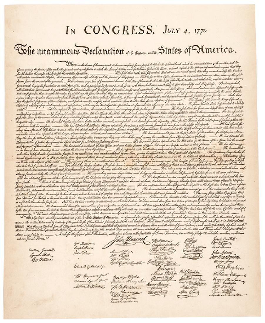 1876  Leslie Printed DECLARATION OF INDEPENDENCE