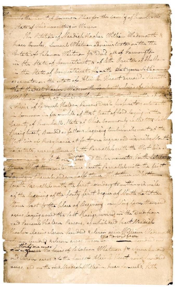 MORMON TURHAND KIRKLAND 1805 Document Signed
