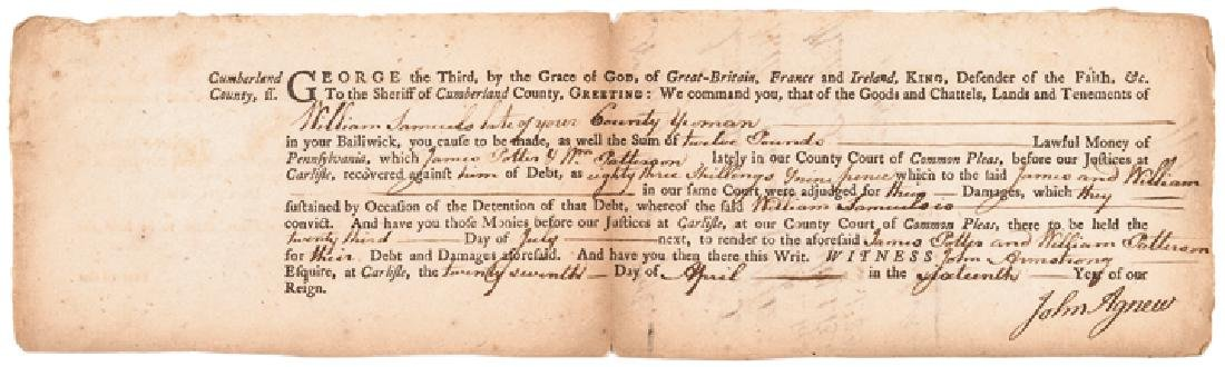 July 1776 Dated Document Signed by James Wilson