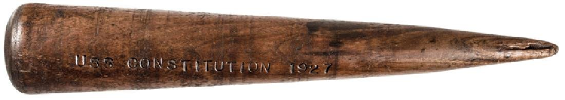Frigate USS CONSTITUTION Wooden Fid Stamped 1927