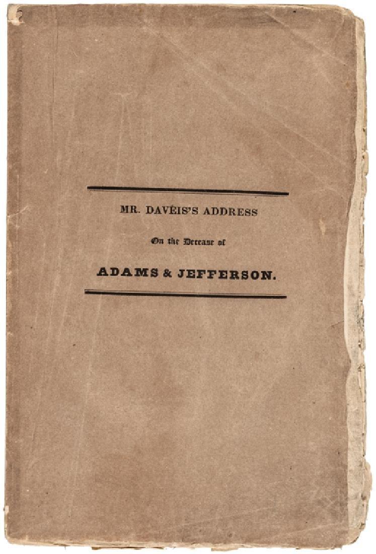 1826 Address On: The Death of Adams + Jefferson