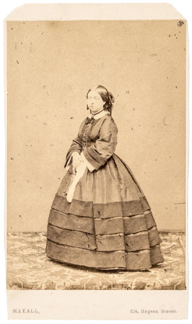 c 1863 Queen Victoria of England Carte de Visite