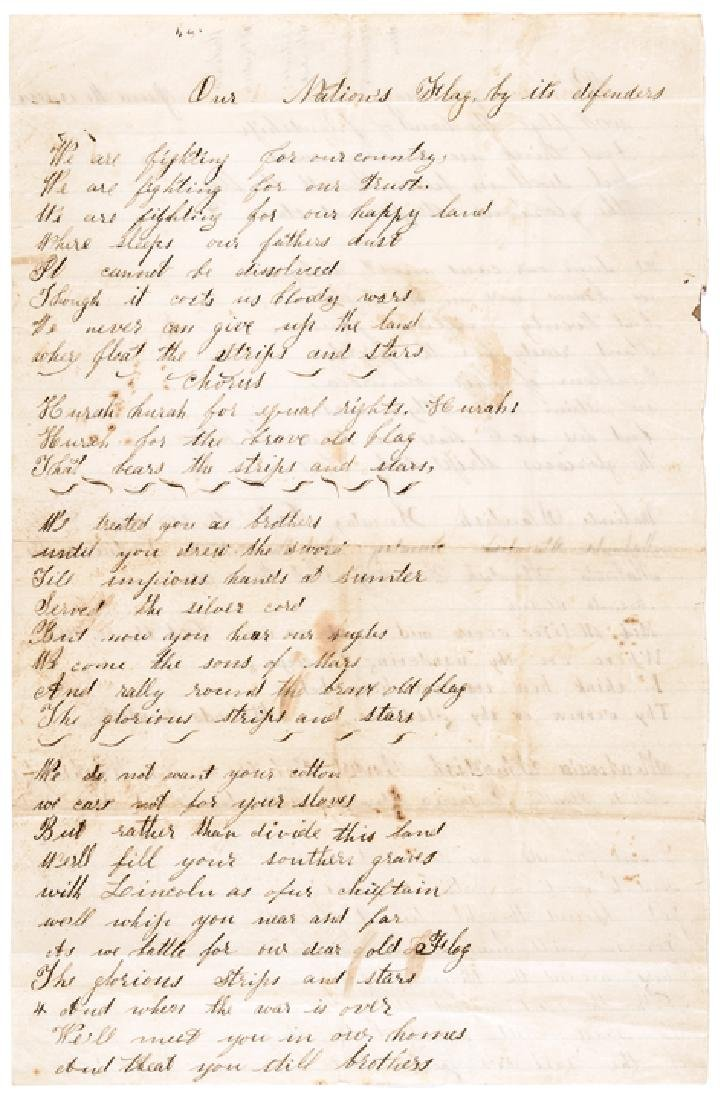 Civil War Poem Our Nations Flag by its Defenders