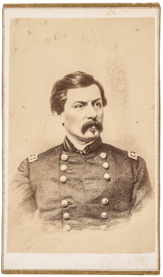 c 1864 General George B. McClellan + Wife CDVs