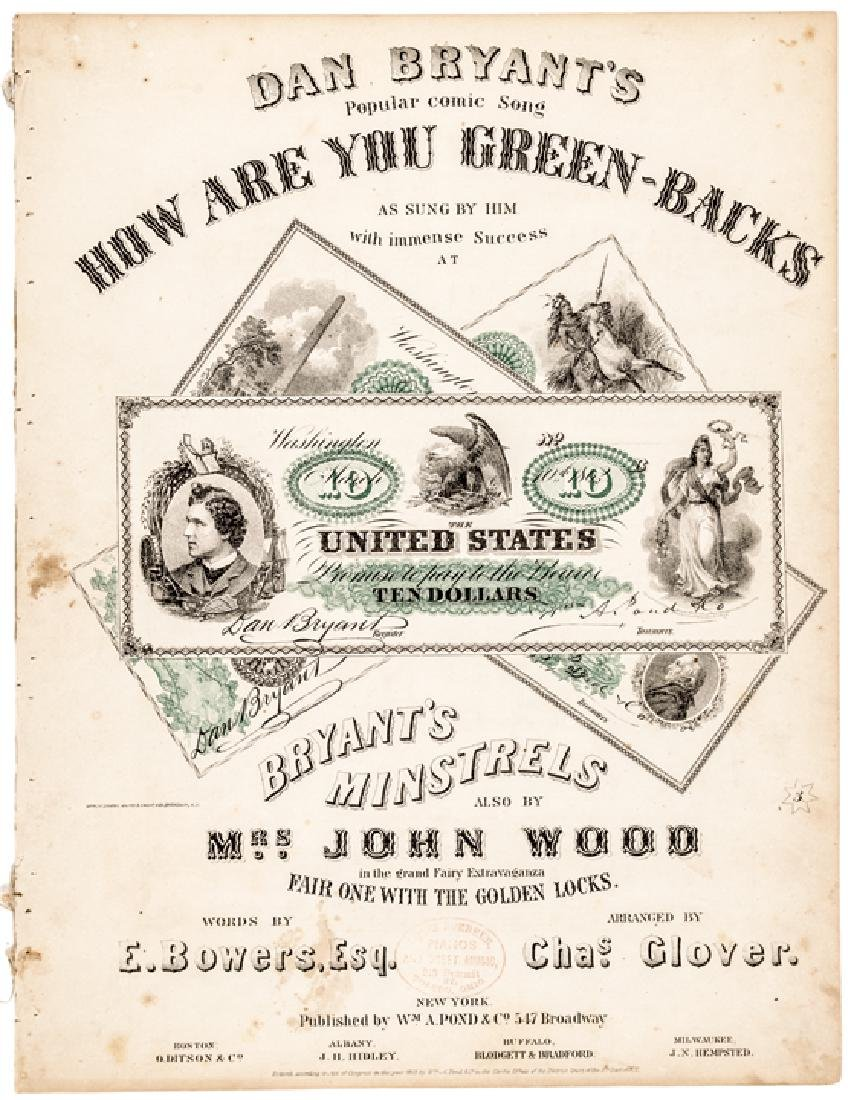 1863 Civil War Music: HOW ARE YOU GREEN-BACKS