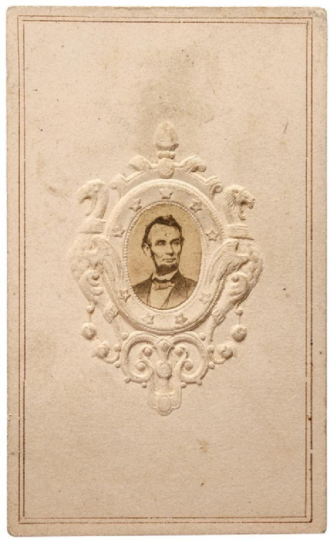 c 1863 Abraham Lincoln Patriotic Carte-de-Visite