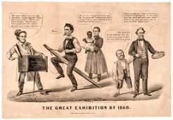 1860 Abe Lincoln Presidential Campaign Cartoon