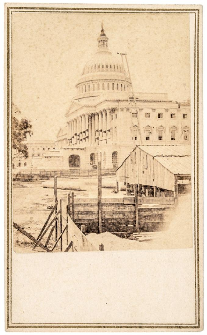 Capitol, Lincoln Assassination Mourning Bunting