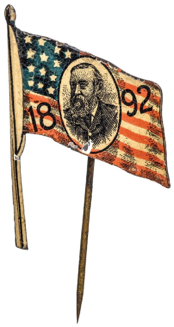 1892 Benjamin Harrison Presidential Election Pin