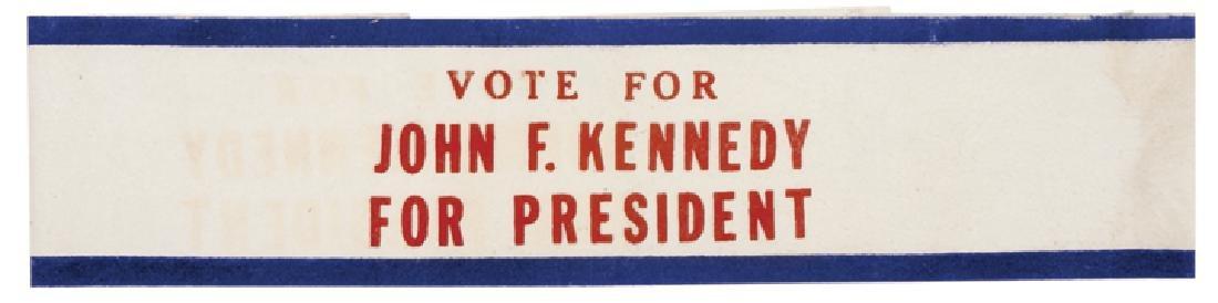 1960 John F. Kennedy Presidential Campaign Sash